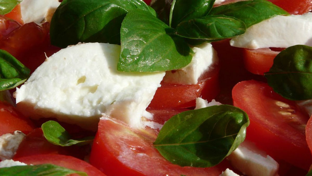 Recipe for tomato and mozzarella sald with argan oil