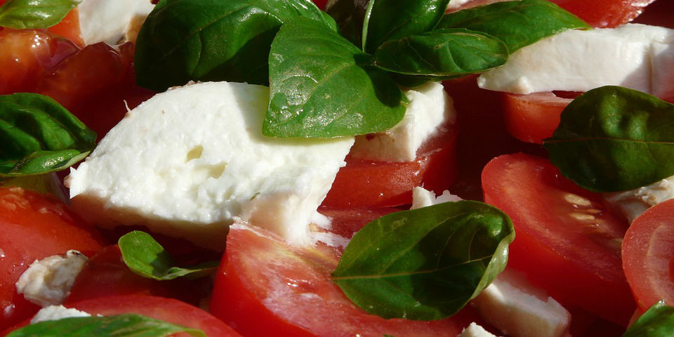 Recipe for tomato and mozzarella sald with argan oil