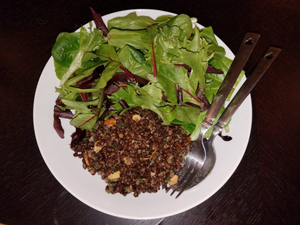 Lentil Salad with Walnuts and Shallots