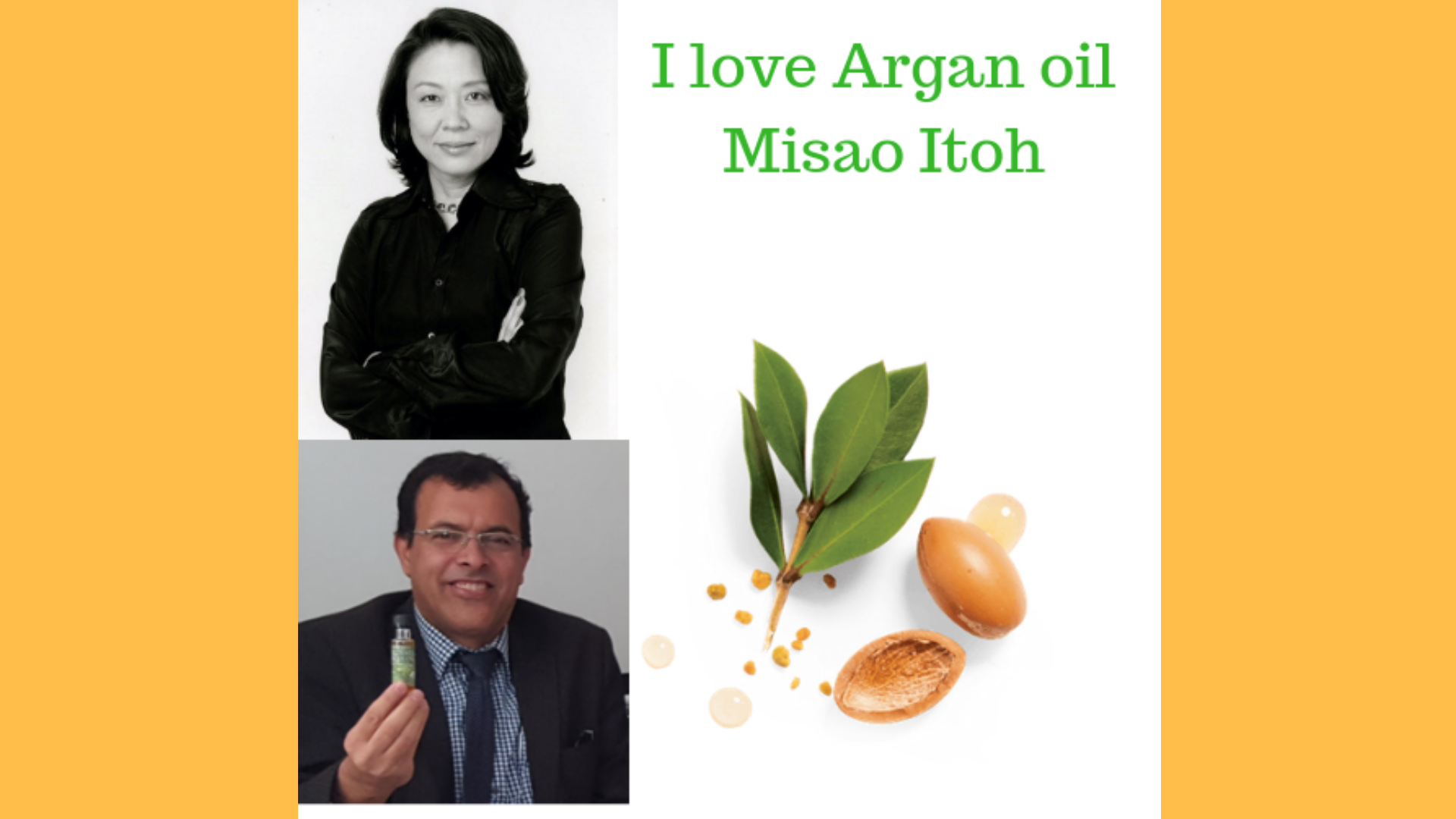 I love Argan oil Misao Itoh