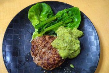 Argan oil dip with avocado and perilla for hamburger