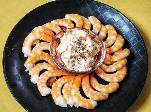 Argan oil whipped cream for shrimp cocktails